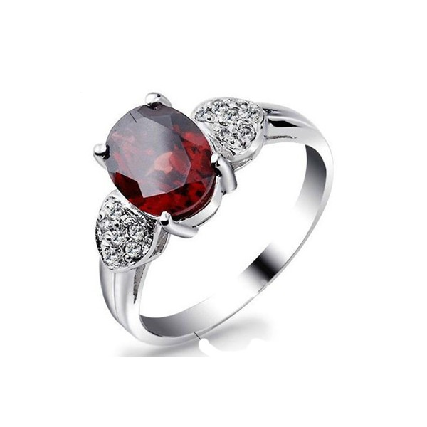 2 carat gar  gemstone engagement ring on silver   jeenjewels