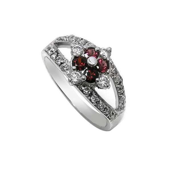 0 25 carat gar  gemstone engagement ring on silver