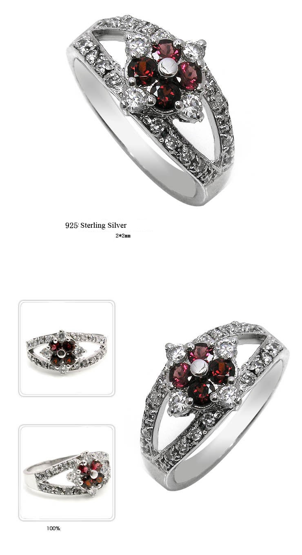 0 25 carat garnet gemstone engagement ring on silver