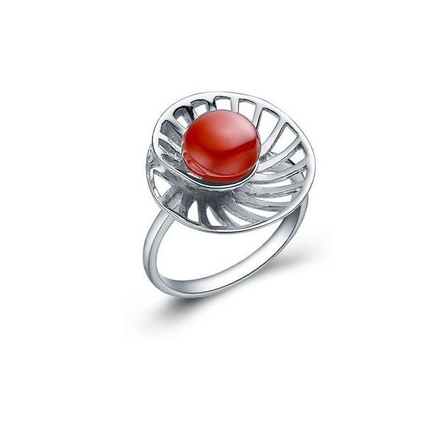 8mm agate gemstone engagement ring on silver jeenjewels