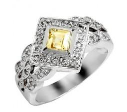 0.75 Carat Citrine Gemstone Engagement Ring on Silver