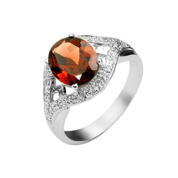 2 5 carat gar  gemstone engagement ring on silver