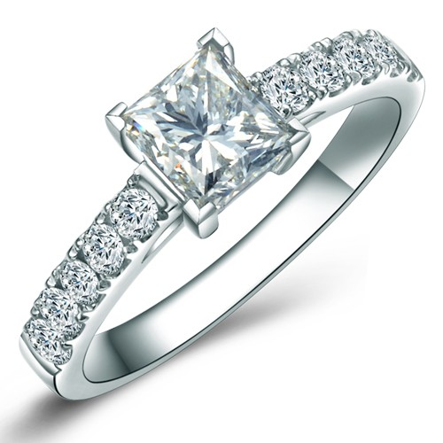 100 carat princess cut diamond engagement ring on sale for Diamond wedding rings on sale