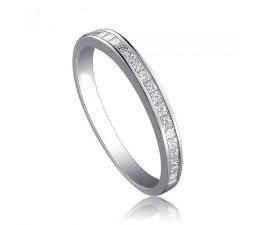 Affordable Half Carat PRincess cut diamond wedding band