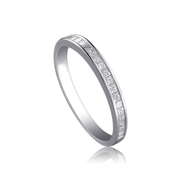 Affordable Half Carat Princess cut diamond wedding band Ring