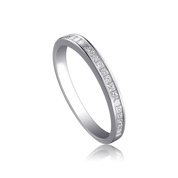 Affordable Half Carat Princess cut diamond wedding band Ring
