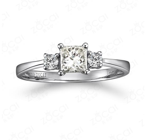 ...  Classic Three Stone Princess Cut Diamond Engagement Ring on Sale
