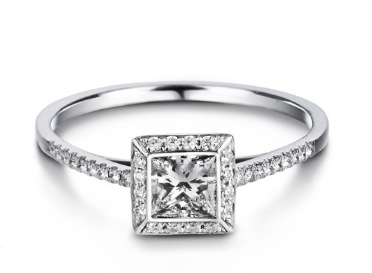 Rings  Engagement Rings  Affordable Princess cut Diamond Engagement ...