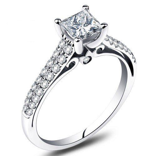 Princess Cut Engagement Rings Cheap 1 Carat Princess Cut Engagement Rings