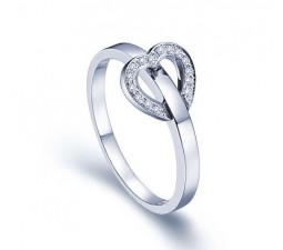 Affordable Heart Shape Diamond Engagement Ring Band