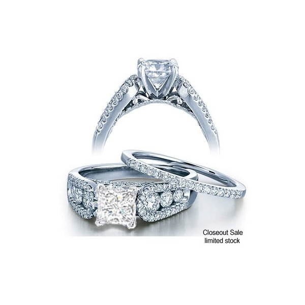engagement diamond matching set and bridal band ring product wedding channel