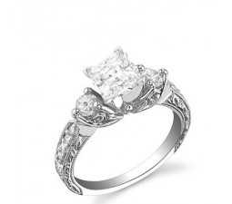 Antique Style Stunning Princess cut Diamond Engagement Ring Closeout Sale