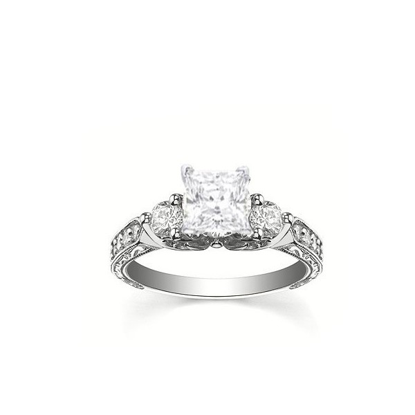 Perfect Antique Affordable Engagement Ring 0.50 Carat