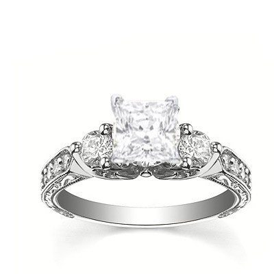 Perfect Antique Affordable Engagement Ring 0 50 Carat