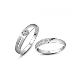 Affordable Diamond Couple Rings Band