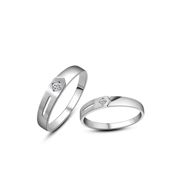 e1d060137b Gorgeous His and Hers Anniversary Gift Rings 0.20 Carat Diamond on Gold