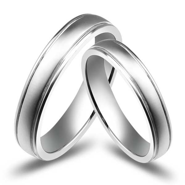 affordable couples wedding ring bands on 10k white gold - White Gold Wedding Ring