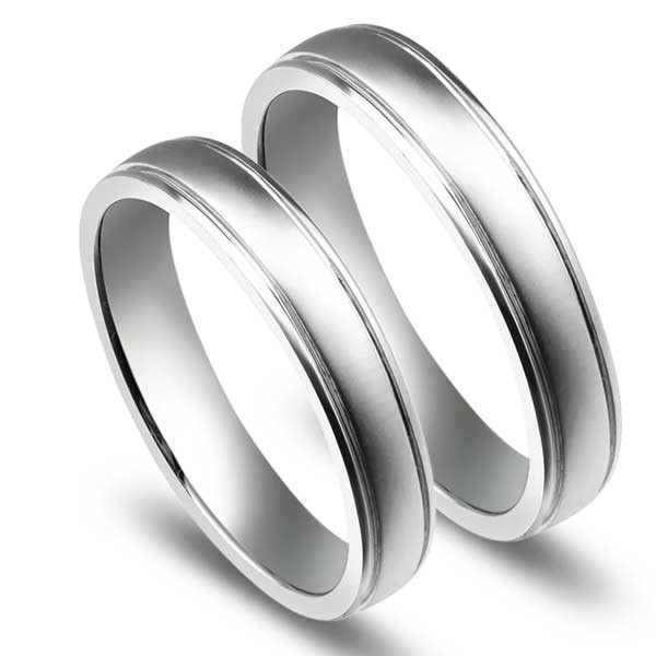 affordable couples wedding ring bands on 9ct white gold