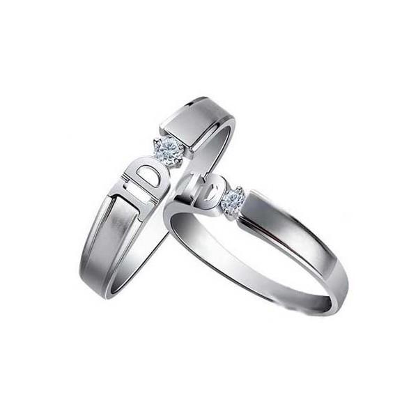 "Say ""I DO"" Couples Wedding Diamond Ring Bands"