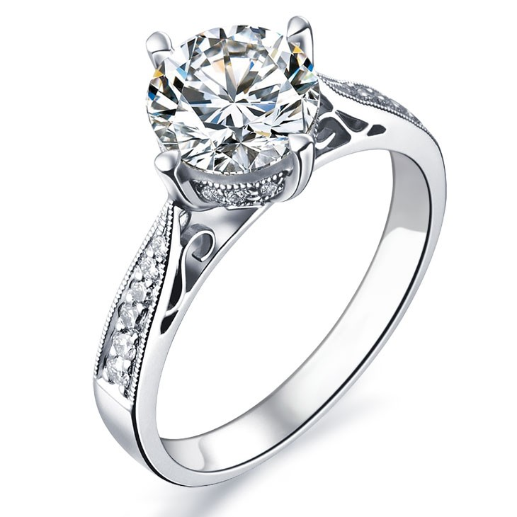 gold diamond ct ring rings jewellery engagement diamonds center total white
