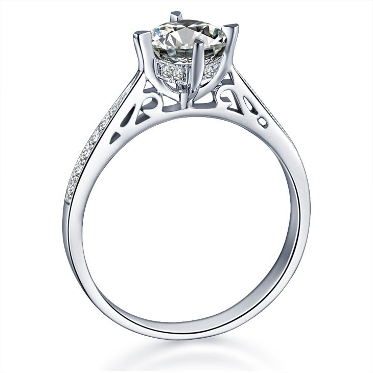 ... GIA Certified Diamond Engagement Ring on 18k White Gold ...