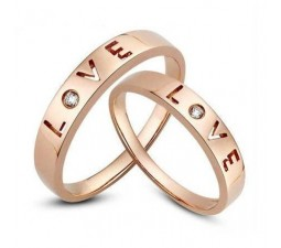 Affordable Love Couple Wedding Band for Him and Her