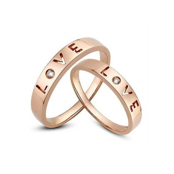Affordable Love Couple Wedding Band for Him and Her JeenJewels