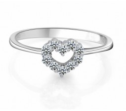 Heart Shape Diamond Engagement Ring on Sale