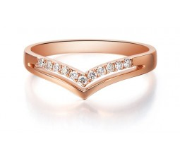 Beautiful Diamond Wedding Band on 10k Rose Gold