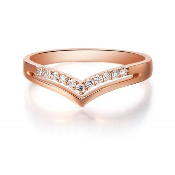 Love Diamond Wedding Band on 9ct Rose Gold - JeenJewels 4e351872cc