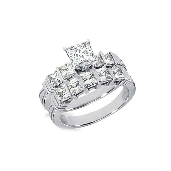 Diamond bridal set on jeenjewels for Diamond wedding rings on sale