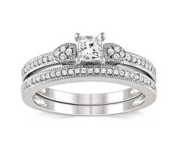 Diamond Wedding Ring Set on