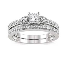 Diamond Wedding Ring Set on