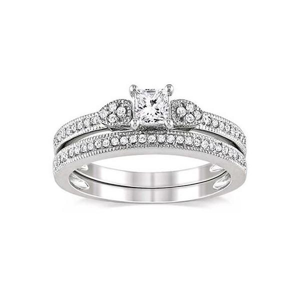 Diamond Wedding Ring Set On JeenJewels