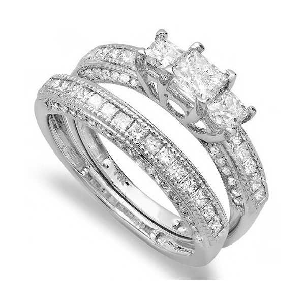 Engagement Rings  Diamond Rings  Antique Princess cut Wedding Ring ...