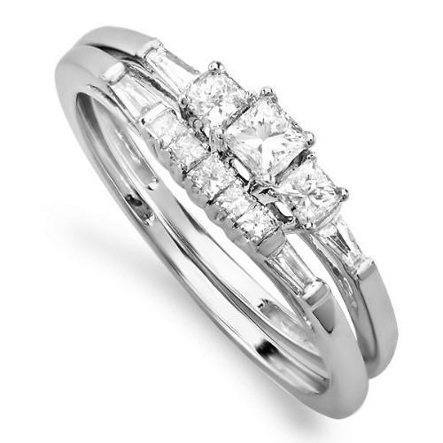 Bridal Set Princess cut Diamond Wedding Ring Set on Sale JeenJewels
