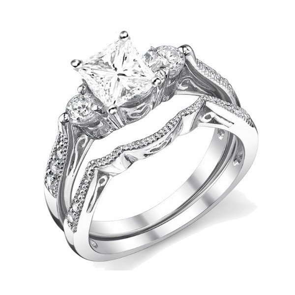 engagement loading cut sets jewellery image wedding silver itm ring set ladies asscher is piece s halo