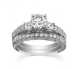 GIA Certified Diamond Bridal Set on
