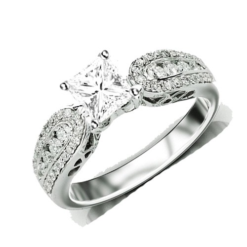 Inexpensive Antique Engagement Ring on JeenJewels