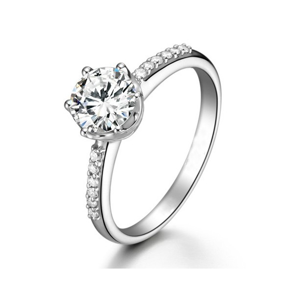 wedding ring white gold 18k