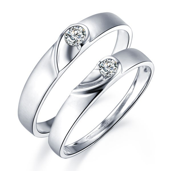 rings rings under 500 unique heart shape couples matching wedding - Wedding Band Rings