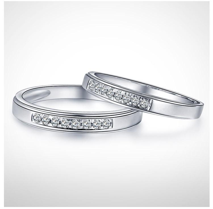 Cheap Couples Matching Diamond Wedding Ring Bands on Gold JeenJewels