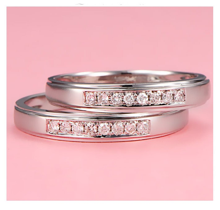 Mesmerizing Happy Couples Rings 0 25 Carat Diamond On Gold