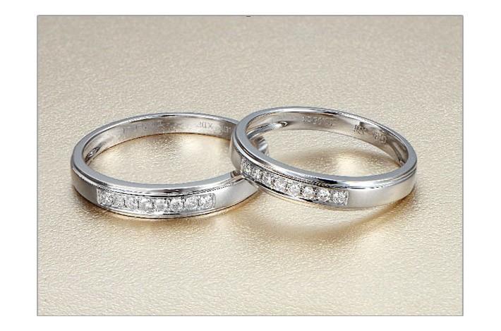 Mesmerizing Happy Couples Rings 025 Carat Diamond on Gold JeenJewels