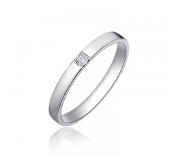 Inexpensive Unisex His and Her Diamond Wedding Band on Silver