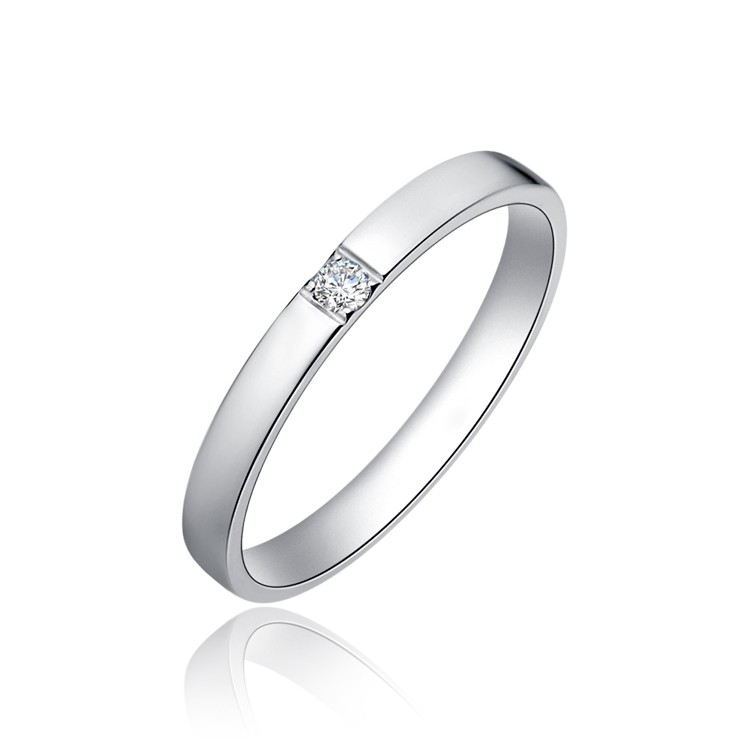 Affordable Uni His and Her Diamond Wedding Band Rings on Silver JeenJewels