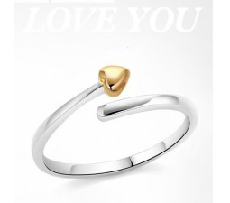 Cheap Heart Shape Engagement / Promise Ring on Sterling Silver
