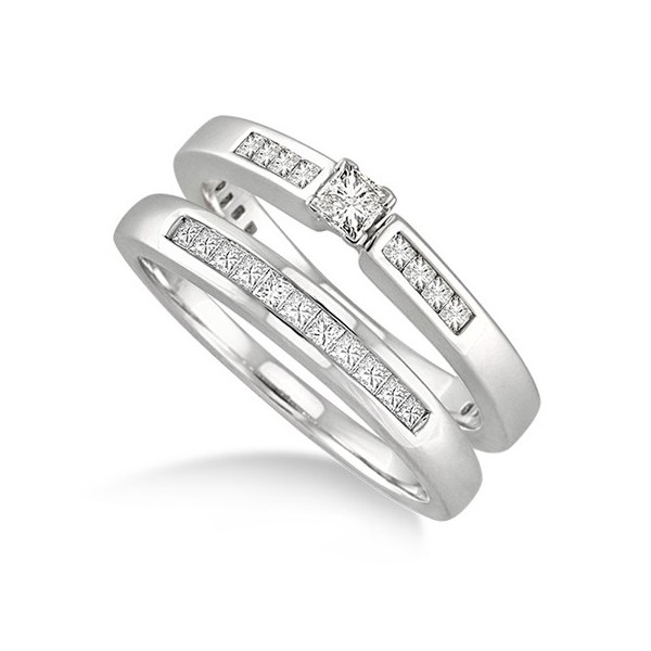 Rings  Wedding Ring Sets  Cheap Princess Cut Diamond Wedding Ring ...