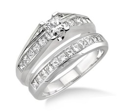 Affordable Diamond Wedding Ring Set on