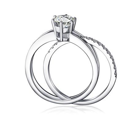 unique 12 carat diamond bridal set on sale